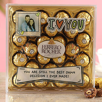 Personalised Love You Ferrero Rocher Box