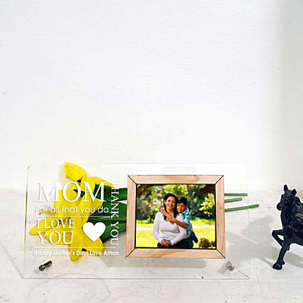 wooden engrave photo frame