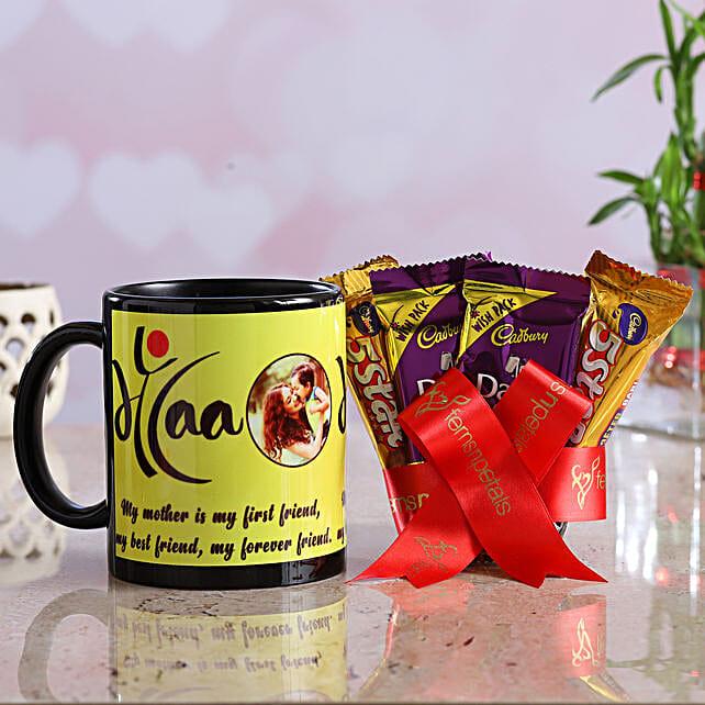 Personalised Maa Mug And Assorted Chocolates