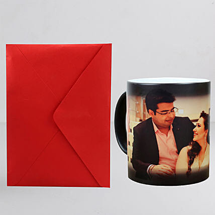 Personalised Magic Mug n Greeting Card