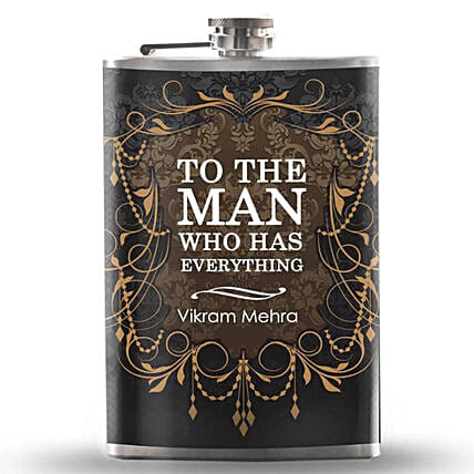 Personalised Flask For Man Online