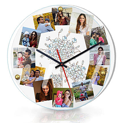 Personalised Photo Wall Clock Online
