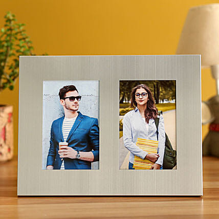 Online Personalised Metallic Photo Frame