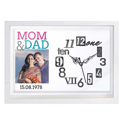 Personalised Frame with Clock Online