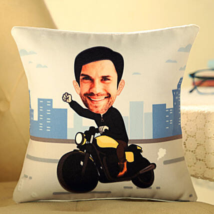 funny caricature printed cushion for him online:Personalized Caricature