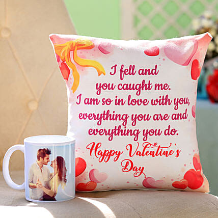 Online Mug And Cushion For Valentine's Day