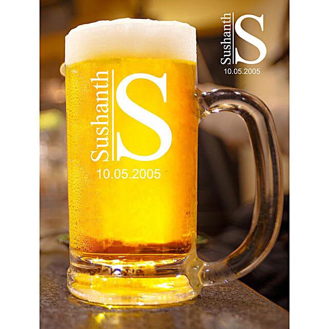 Personalised Name Beer Mug Online:Buy Personalised Beer Glasses