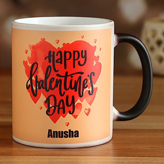 happy valentines day magic mug:Valentine Personalised Mugs