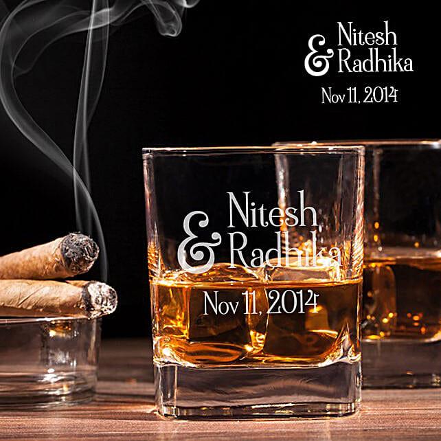 personalised whiskey glass set