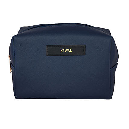 Personalised Navy Blue Travel Kit