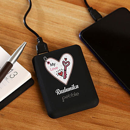 pebble brand power bank personalised