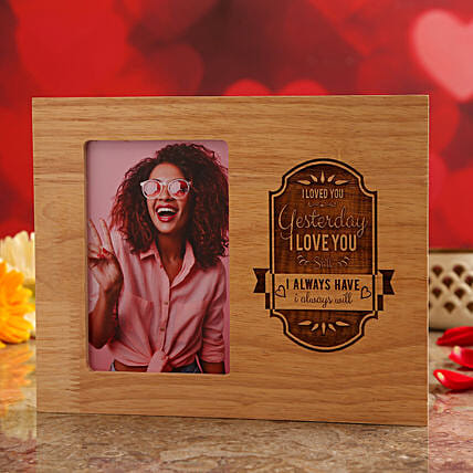 personalised wooden frame for vday