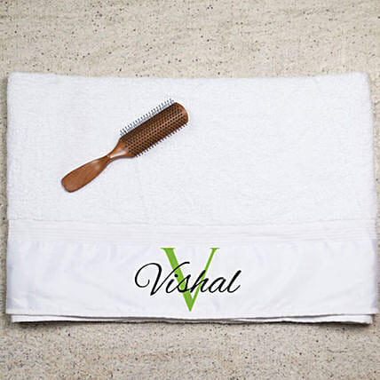 Personalised Printed White Bath Towel