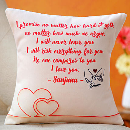 personalised cushion for promise day