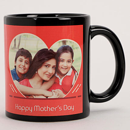 Online Personalised Red Heart Mug For Mother's Day
