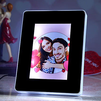 valentine theme personalised magic mirror online:Personalised Photo Frames