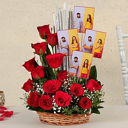 Online Customised Red Roses:Flower Arrangements