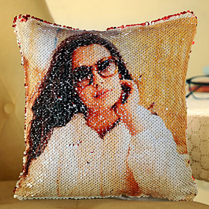Beautiful Sequin Cushion For Her Online