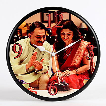 photo printed wall clock