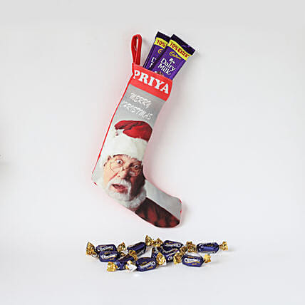 Christmas loaded chocolate in socks