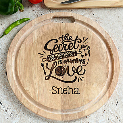 décor personalised chopping board