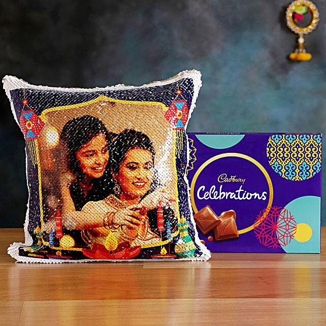Buy  Cushion with Celebrations Box