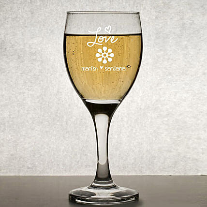 Wine Glass:Personalised Glassware