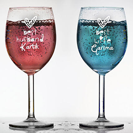 Wine Glass:Send Personalised Wine Glasses