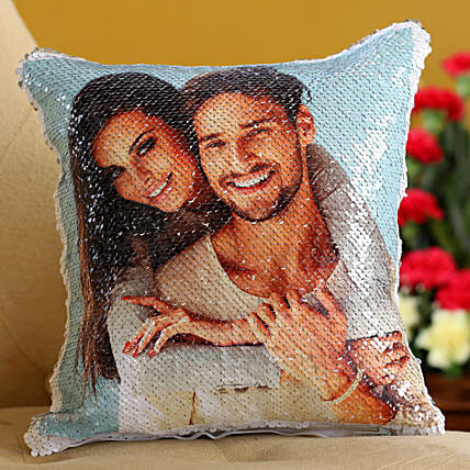 silver sequin cushion online