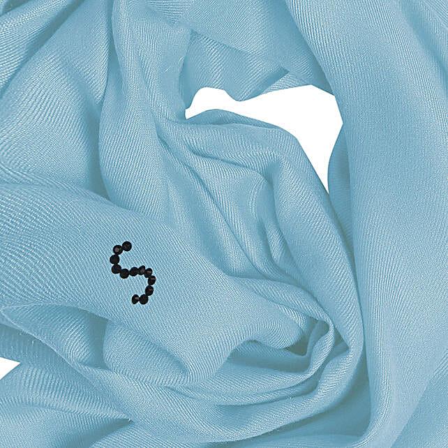 Online Customised Sky Blue Pashmina