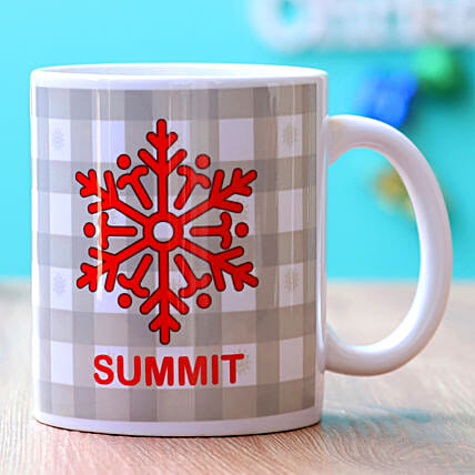 Personalised Snow Flake Mug