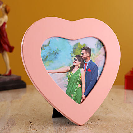 personalised couple heart frame online