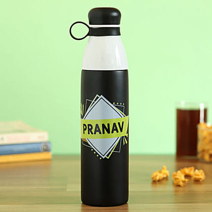 personalised steel flask online:Send Personalised Message Bottles