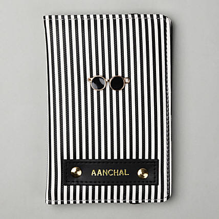 Personalised Striped Passport Cover