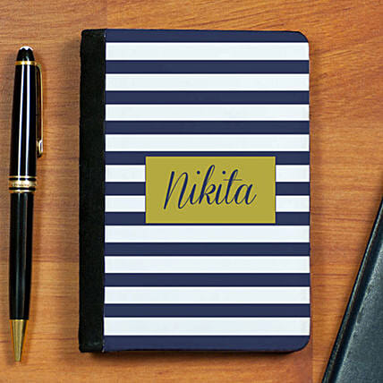 Personalised Striped Passport Holder