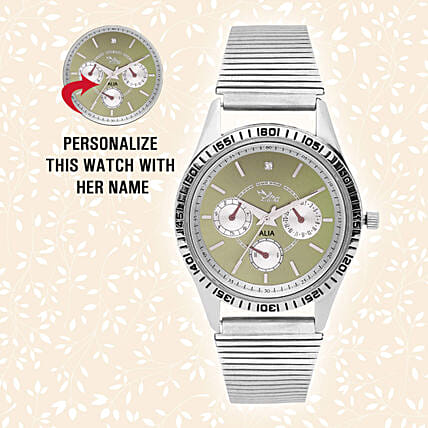 Personalised Trendy Steel Silver Watch
