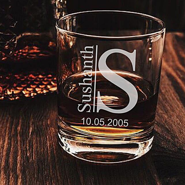 customised whiskey glass set online