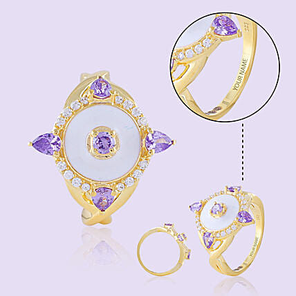 Purple Stone Ring Online For Her