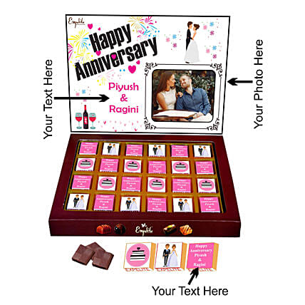 Personalised Anniversary Chocolate