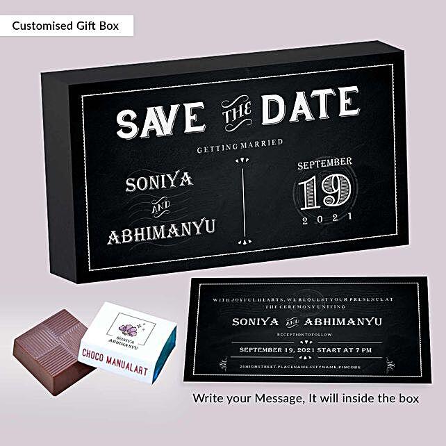 Personalised Wedding Invitation Licious Chocolates:Send Personalised Chocolates for Husband