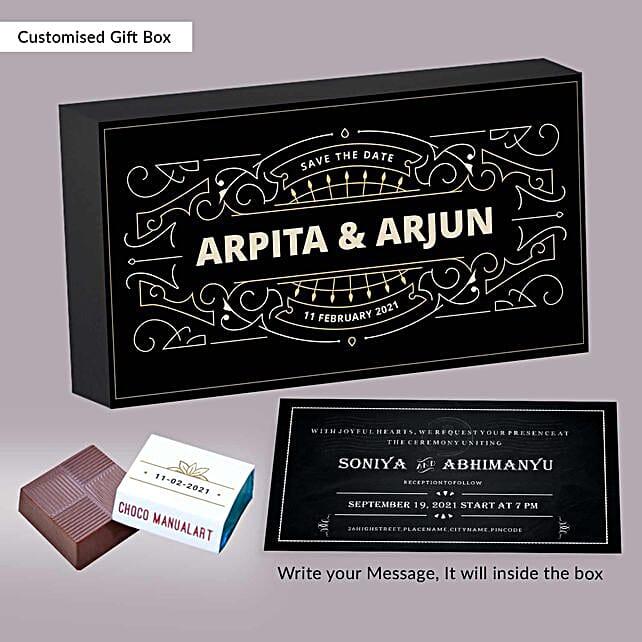Personalised Wedding Invitation Luscious Chocolates:Personalised Chocolates for Husband
