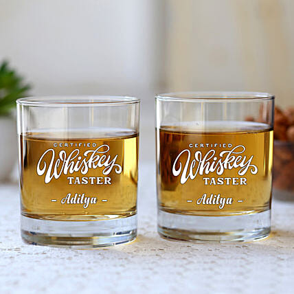 Personalised Whiskey Glass Set Of 2