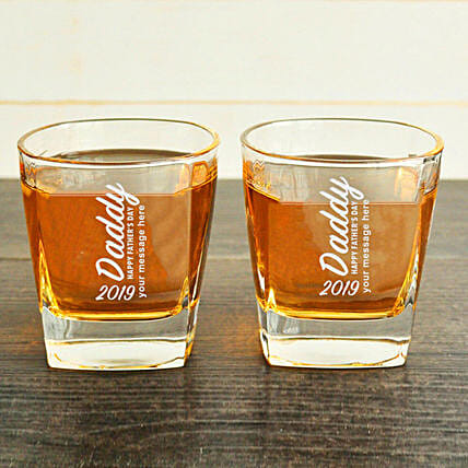 customised whiskey glasses for dad
