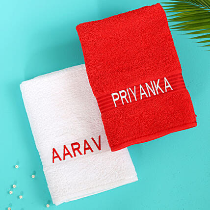 personalised towel for couple:Personalised Towels