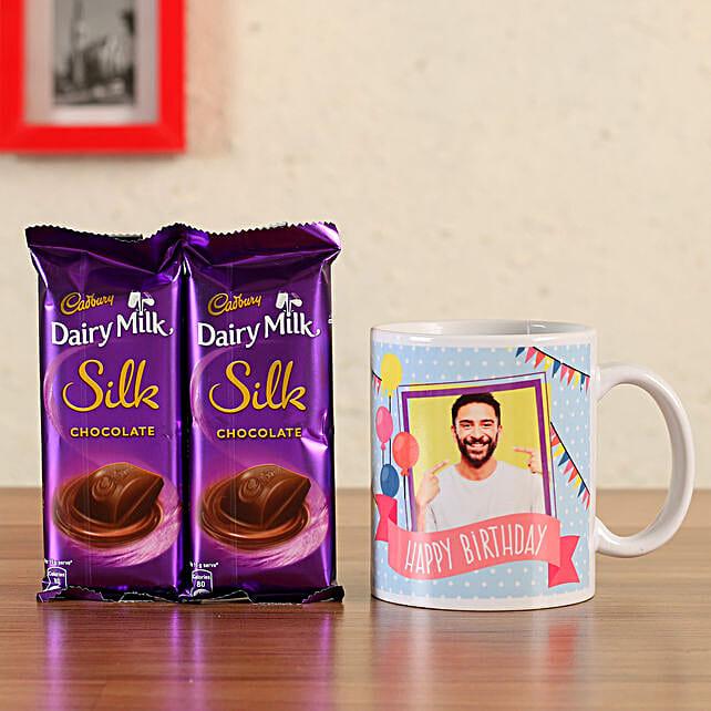 personalised coffee mug with chocolate combo online