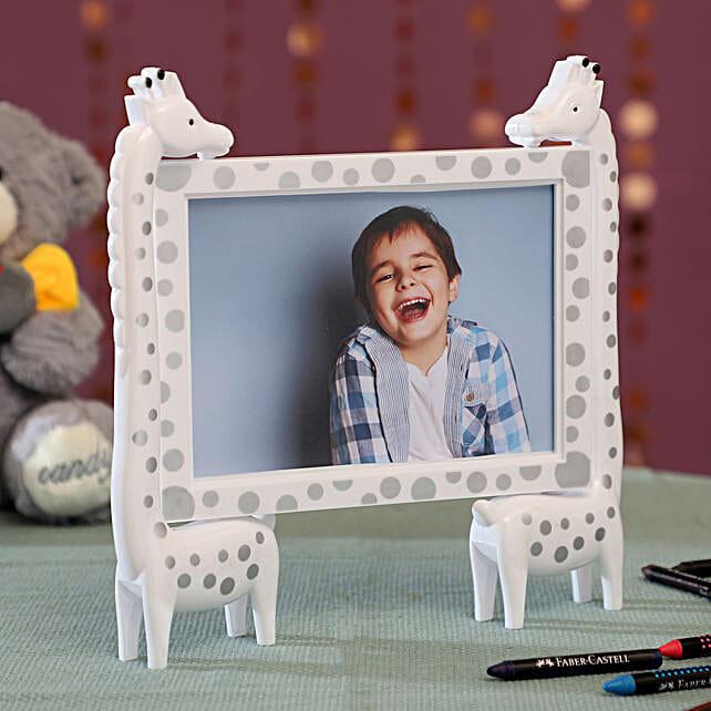 Personalised White Giraffe Photo Frame