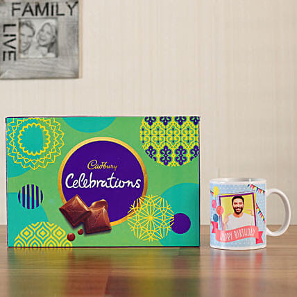 chocolate box with personalised mug