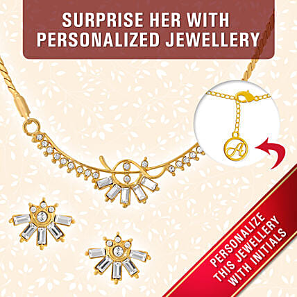 personalised gold plated pendant set online
