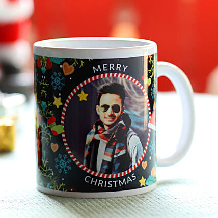 Online Personalised Xmas Wishes For Him Mug