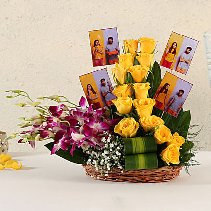 Online Customised Yellow Roses Arrangement